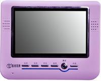 冠捷可视对讲8寸紫色免提可视分机图片/冠捷可视对讲8寸紫色免提可视分机样板图