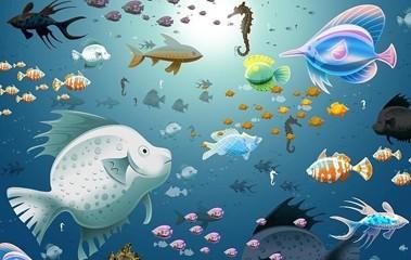 壁纸 海底 海底世界 海洋馆 水族馆 桌面 379_240
