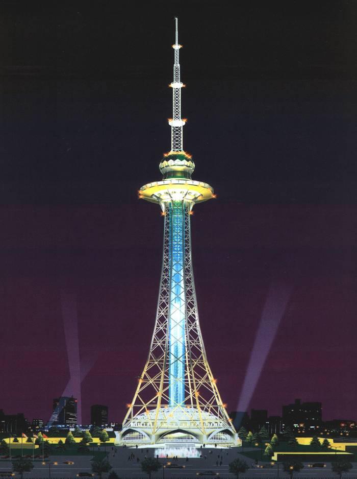 广播电视塔装饰塔楼顶塔火炬报价