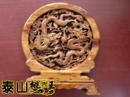 桃木剑工艺品双龙戏珠桃木工艺台屏图片