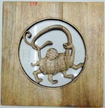 供应木雕木雕挂件小方形仿旧玄武