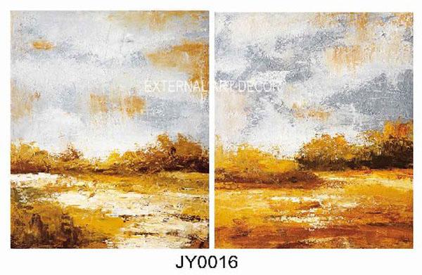 供应欧式无框画风景油画个性油画