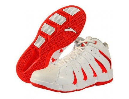 安踏篮球鞋图片 安踏篮球鞋样板图 安踏篮球鞋红白1011123...
