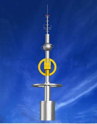 供应不锈钢塔楼顶塔避雷塔通信塔图片