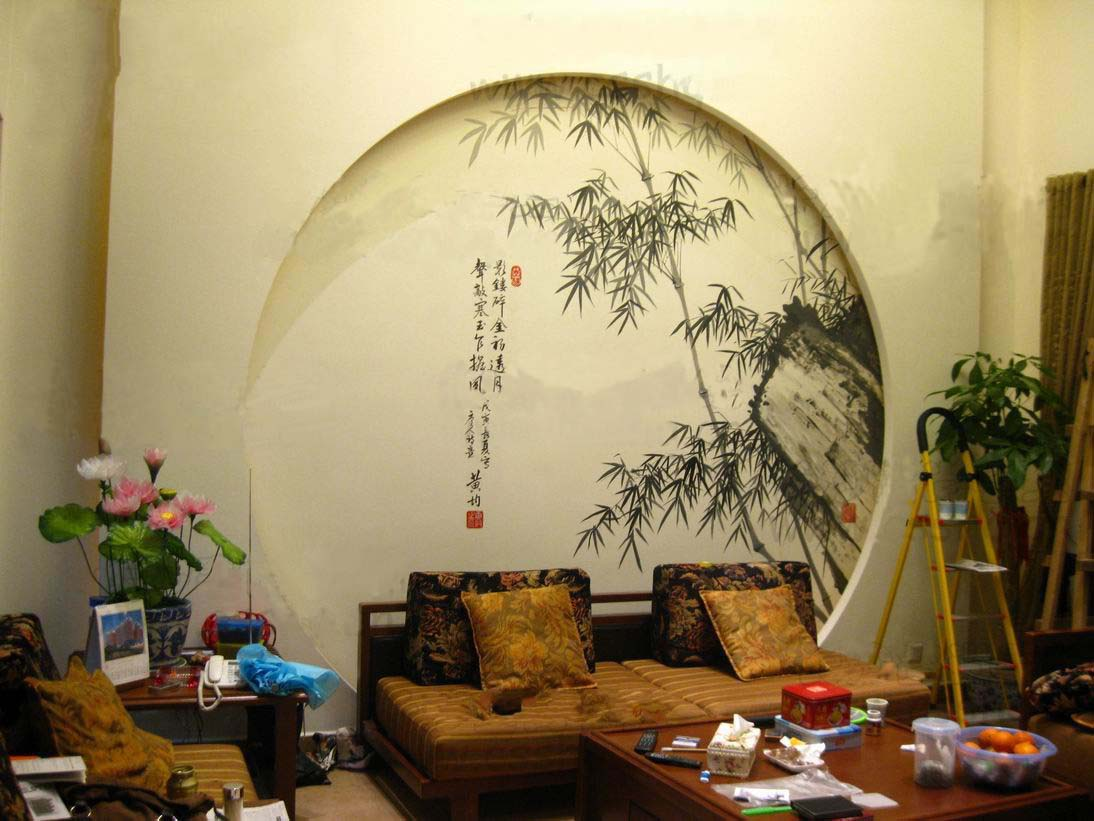 供应郑州手绘墙掀起了郑州墙体室内装修