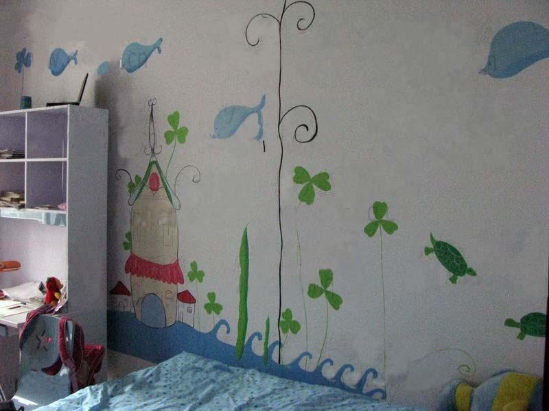 室内装修图片 室内装修样板图 郑州手绘墙掀起了郑州墙体