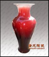 陶瓷花瓶红釉窑变陶瓷赏瓶图片