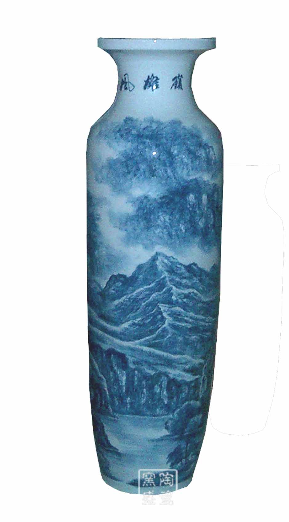 大礼品 陶瓷大花瓶 供应景德镇陶瓷大花瓶手工绘画制作陶瓷