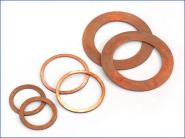 紫铜垫片金属接口垫图片