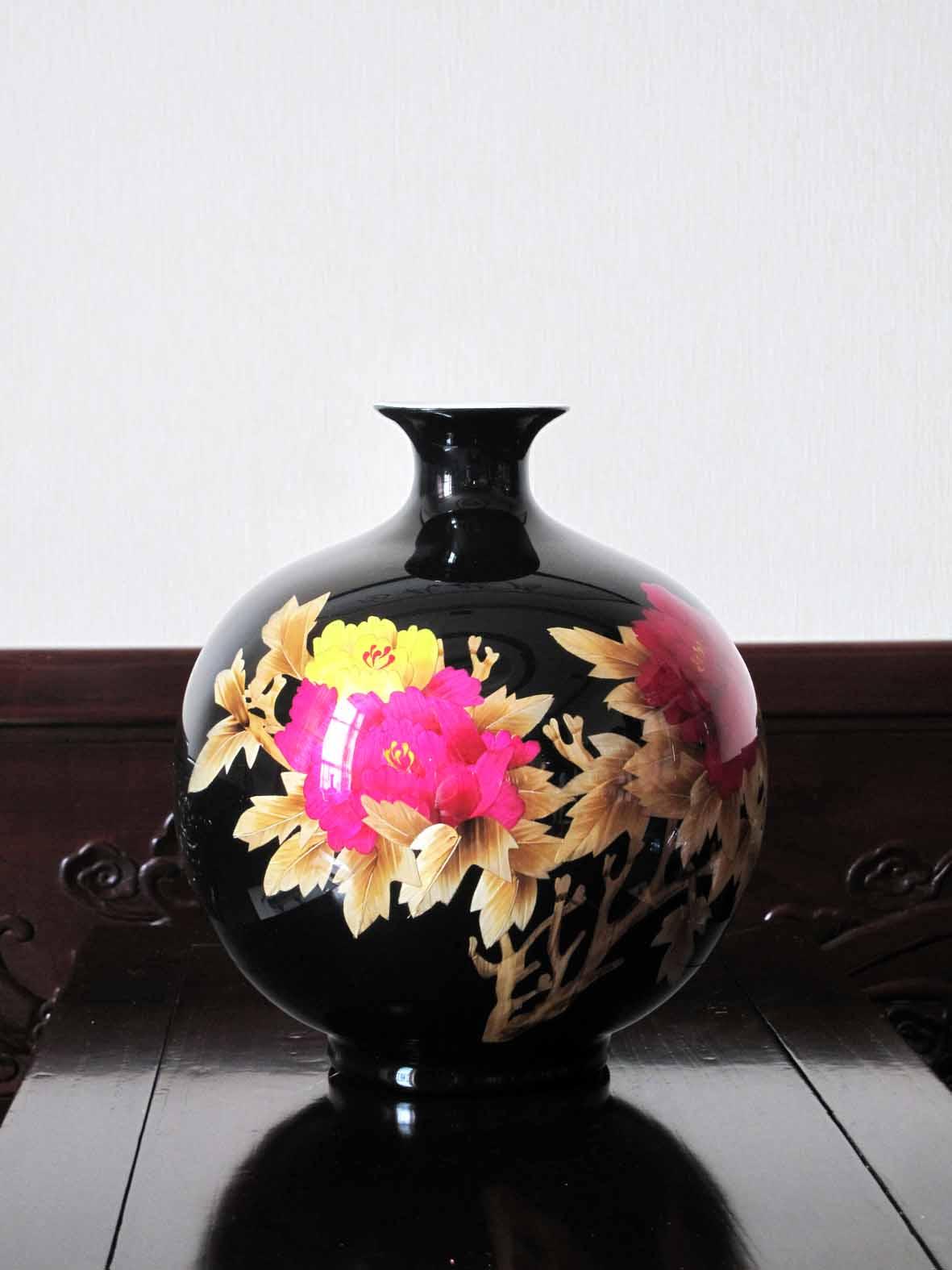 供应芦苇画精品瓷器-花开富贵【厂家直销、量大从优】批发