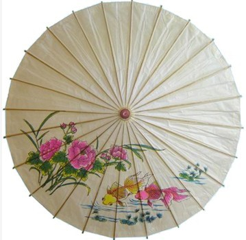 手工纸伞绘画动物