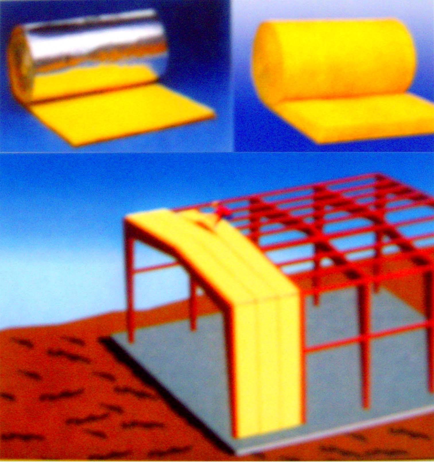 供应建筑节能环保材料铝箔贴面玻璃棉毡(河北生产商批发商)批发