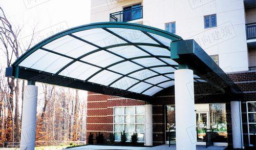 中式玻璃雨棚图片