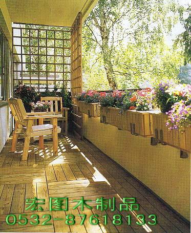 供应防腐木休闲椅木栅栏木围栏阳台护栏