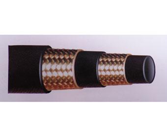 供应51mm双层钢丝编织高压橡胶管