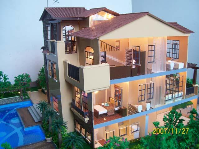专业制作供应建筑单体模型(包括别墅模型)