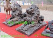 铜狮子汇丰狮子铜雕狮子图片