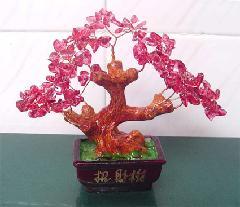 北京天然水晶树水晶树发财树招财树生产供应商 供应天然水高清图片