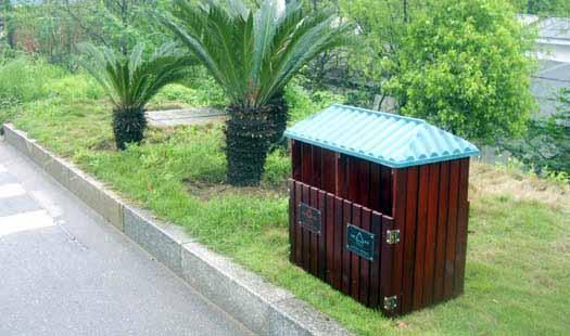 供应f252园林分类垃圾桶