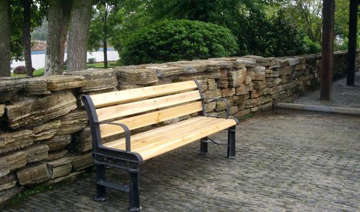 b607公共休闲实木椅图片