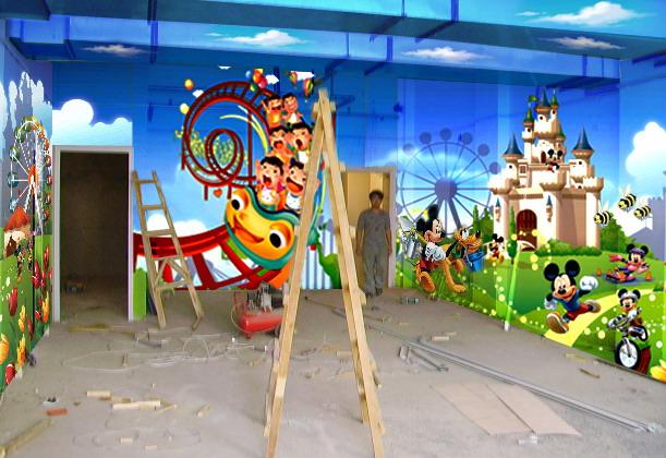 供应深圳手绘喷绘幼儿园壁画墙画