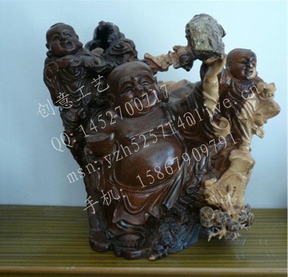 供应木制雕刻弥勒佛