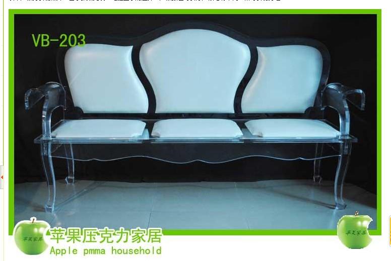 供应欧式沙发水晶椅子有机玻璃沙发