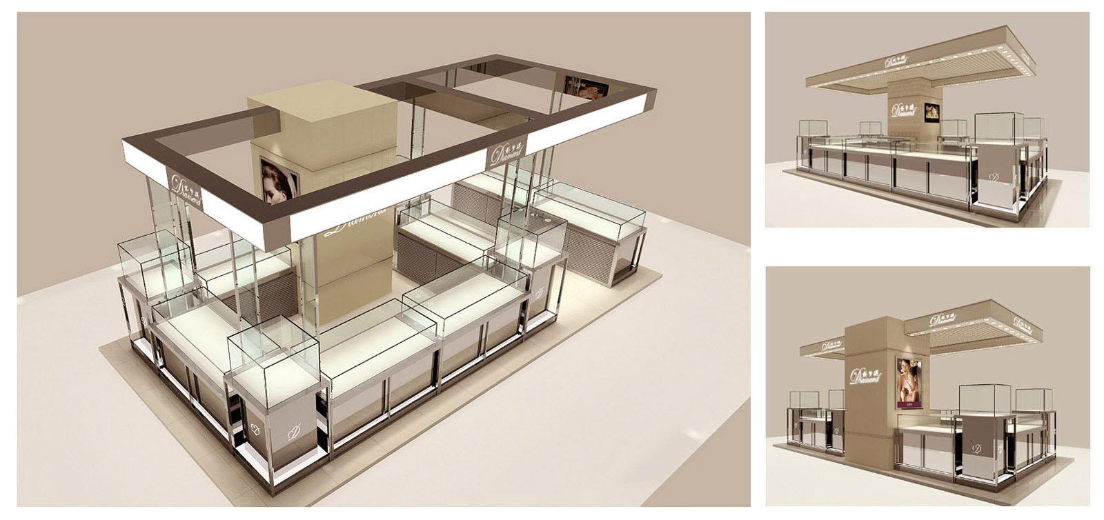 展示柜宁波珠宝店面设计宁波珠宝展示柜制作和设计