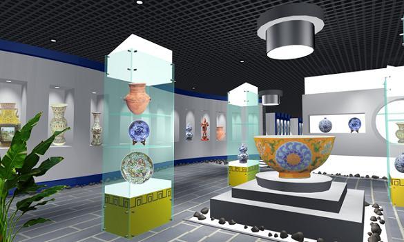 香港工艺品展示柜工艺品展柜图片