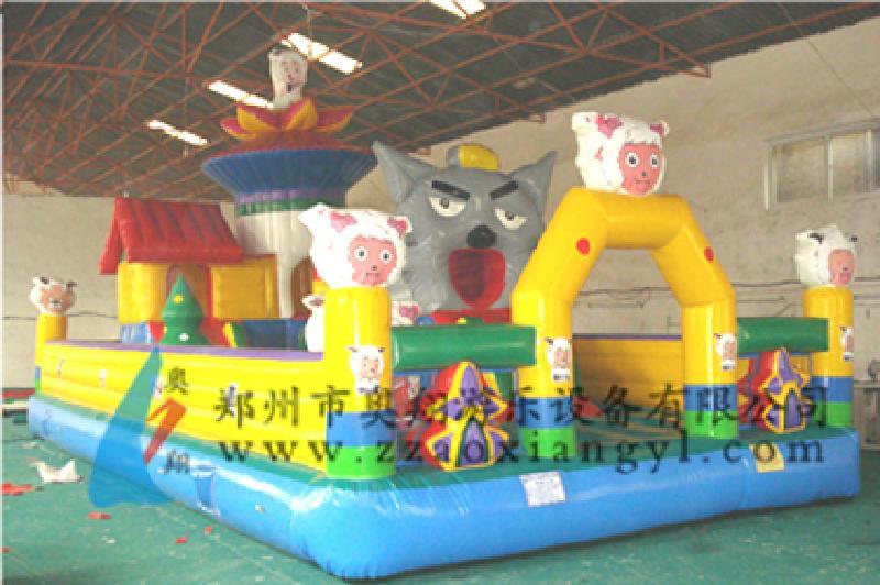 玩具儿童充气城堡蹦床充气玩具生产厂家郑州奥翔玩具