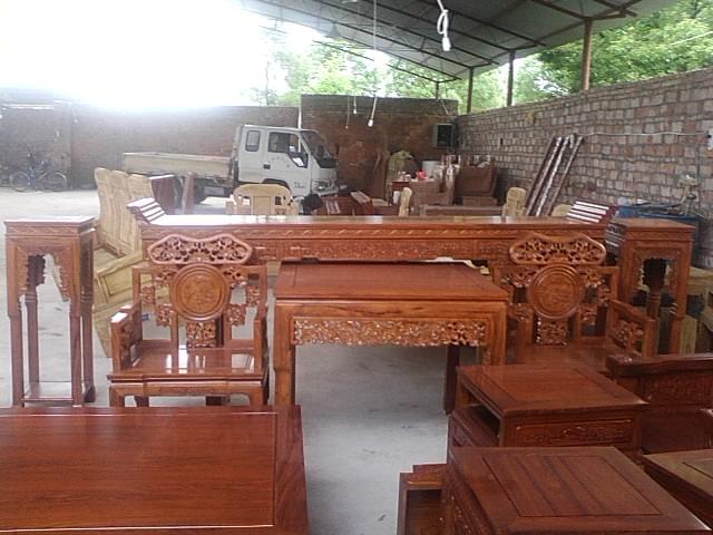 供应东阳红木家具客厅家具中堂6件套非黄精品