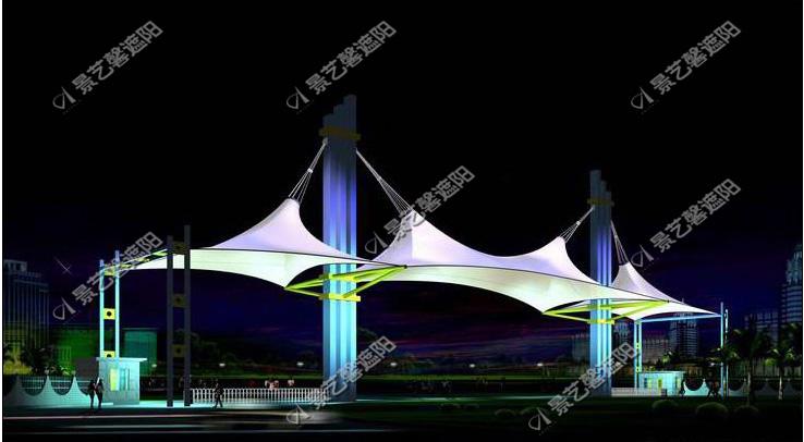 供应西安膜结构门头建筑图片