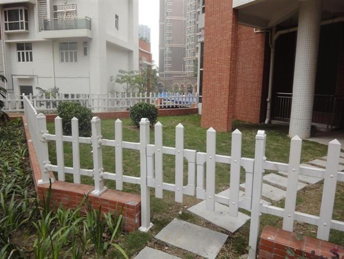 供应别墅区PVC护栏图片