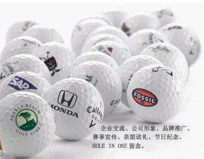 供应高尔夫球印刷球身LOGO印刷批发