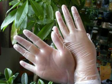 一次性pvc手套图片/一次性pvc手套样板图 (1)