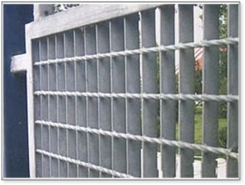 钢格板围栏图片/钢格板围栏样板图