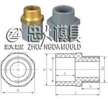 供应CPVC外螺纹接头管件模具