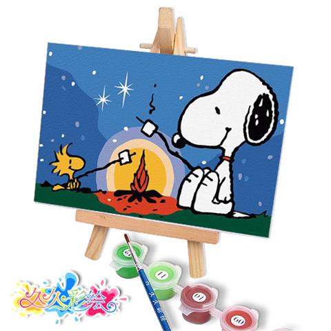 红利彩绘手绘数字油画图片