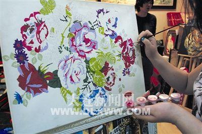 红利彩绘手绘数字油画-可爱的家全报价