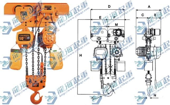 供应双速环链电动葫芦丨lhqz