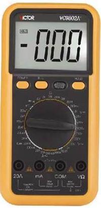 供应数字万用表vc-9802a