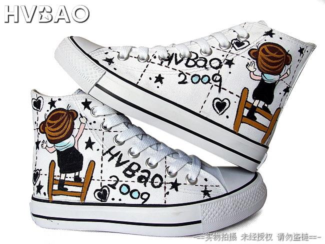 绘宝手绘墙有限公司生产供应厦门绘宝手绘鞋diy涂鸦