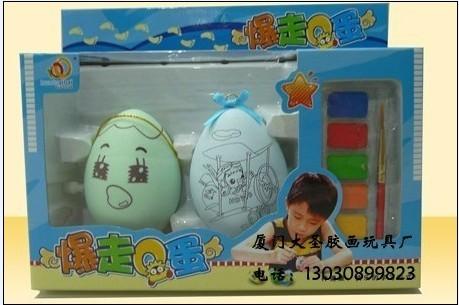 供应爆走Q蛋彩绘Q蛋鸡蛋画Q蛋图片