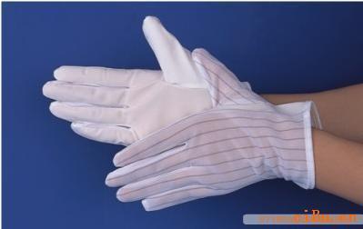 供应防静电防滑手套厂家 静电防滑手套批发 静电条纹手套价格