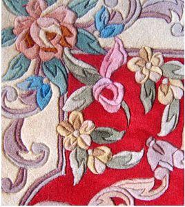 供应手工提花片剪地毯批发