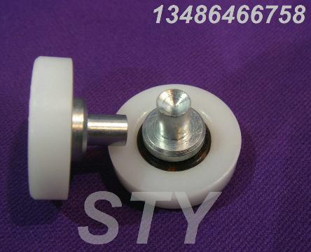 供应塑料滑轮26-C3L7铆钉定位轮工业滚轮耐磨胶轮批发