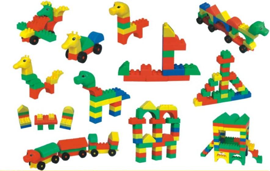 供应塑料积木玩具神奇动物园专业教玩具