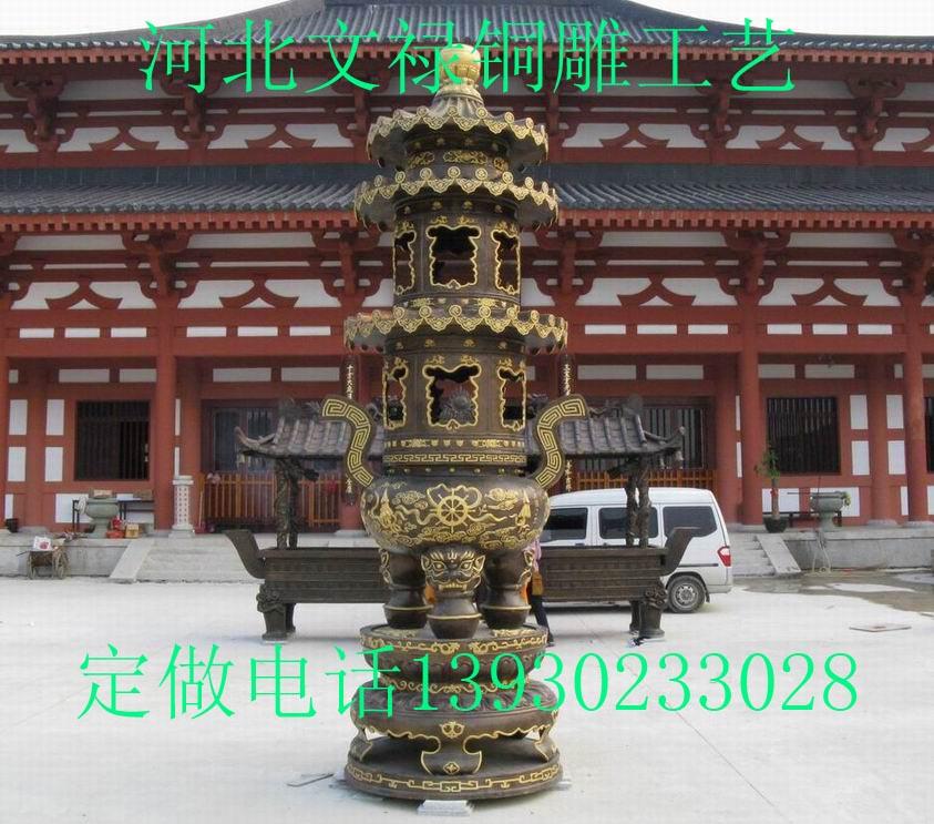 供应铜雕香炉铜香炉