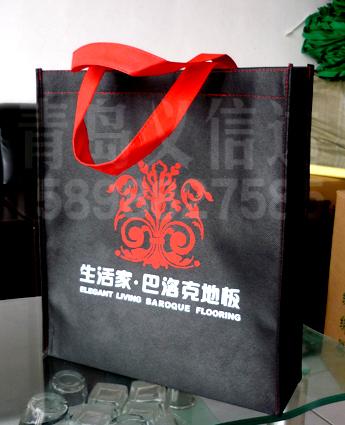 青岛无纺布购物袋子定做印刷工厂图片