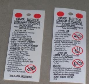 供应UL817电线标签